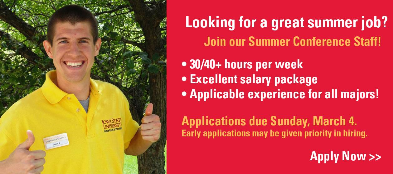 Apply now for an amazing summer job!